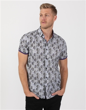 Starry Grey Men's Summer Shirt