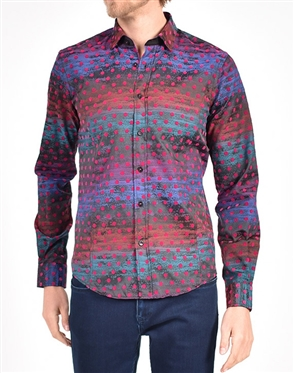 Gradiant Purple polka dot Shirt|Eight-x Luxury Long Sleeve