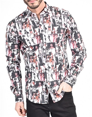 Audrey Hepburn Print Shirt|Eight-x Luxury Long Sleeve