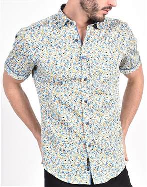 Summer Melody Floral Print Shirt|Eight-x Luxury Short Sleeve