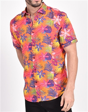 Sunset Hawaiian Print Shirt|Eight-x Luxury Short Sleeve