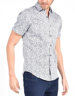 Black Dancing Paisley Print Shirt|Eight-x Luxury Short Sleeve