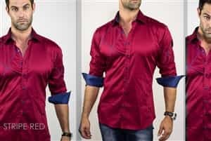Maceoo Shirts Stripe Red