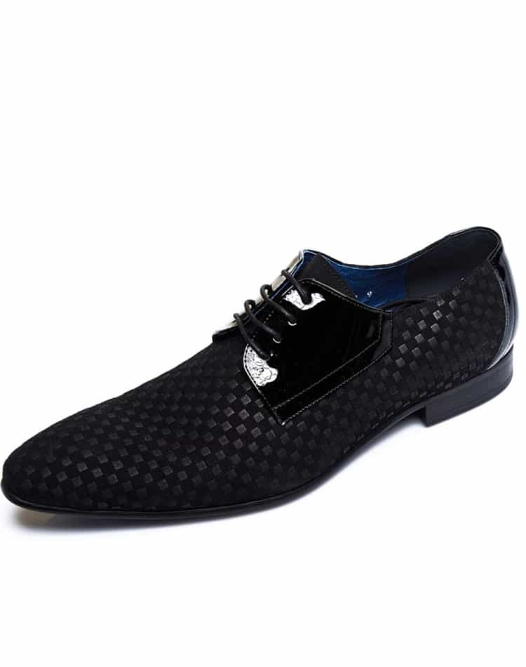 Men Black Designer Shoes- Maceoo Shoes