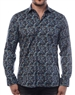 Chic Multi Colored Woven Designer Shirt With A  Navy Background - Flattering Men's Shirt