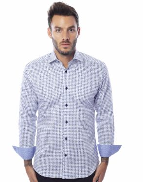 Luxury Dressshirt - White Blue