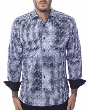 Unique Dress Shirt - Navy Scale