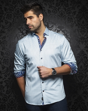 Au Noir Shirt marino-light-blue