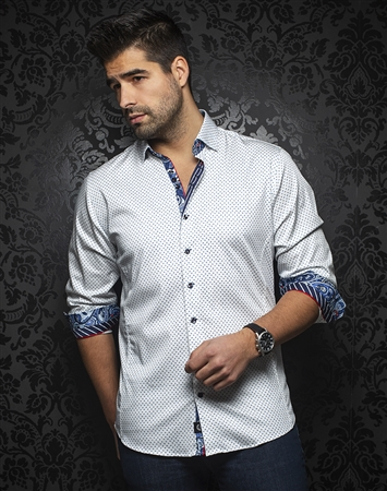 Au Noir Shirt marino-white-blue