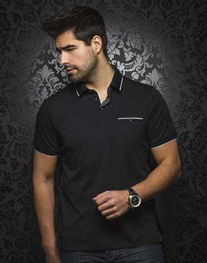 Au Noir Polo | Mercury Black