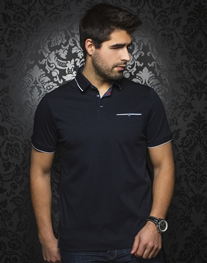 Au Noir Polo | Mercury Navy