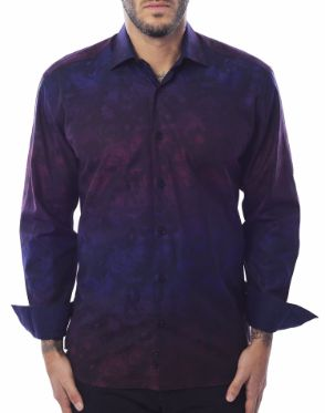 Fashionable Navy Purple Shirt