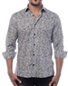 Men's Modern Dress Shirt - Luxury Geometric Print Dress Shirt