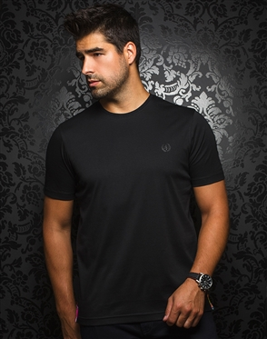 Designer Black Crew Neck Shirt