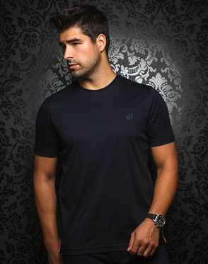 Designer Navy Crew Neck Shirt
