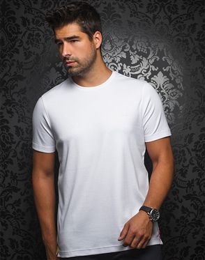 Designer White Crew Neck Shirt