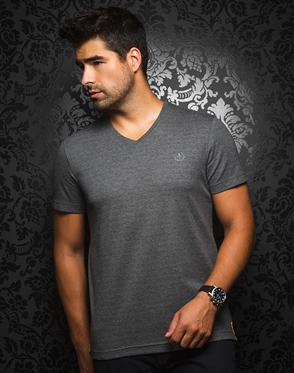 Sporty V-Neck Shirt - Charcoal T-Shirt