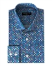 Sporty Dress Shirt - Navy Star Print Woven