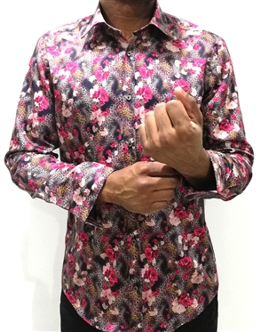 Handsome Animal Print Floral Dress Shirt