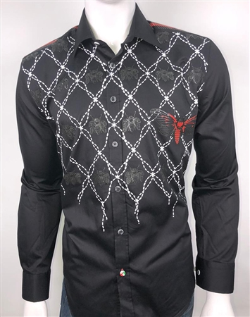European Fashion Shirt in Black