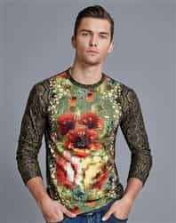 Mondo Long Sleeve Snake Skin Shirt