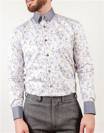 French Shirt- White French Shirt | Interchangeable Collar and Cuffs