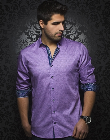 Shop Men Casual Sport Shirts - Lavender Button Down
