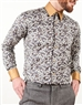 Brown Floral French Shirt- Changeable Collar and Cuffs