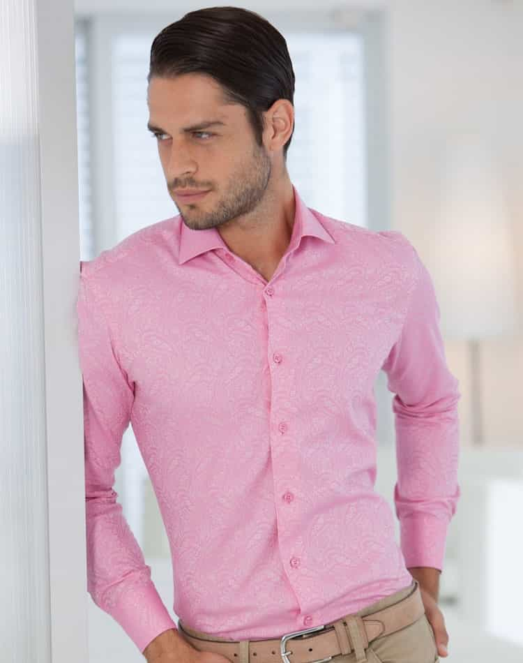 Pink Dress Shirt | Men Dress shirt- Bertigo Nat 52