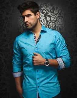 Luxury Button Down: Turquoise