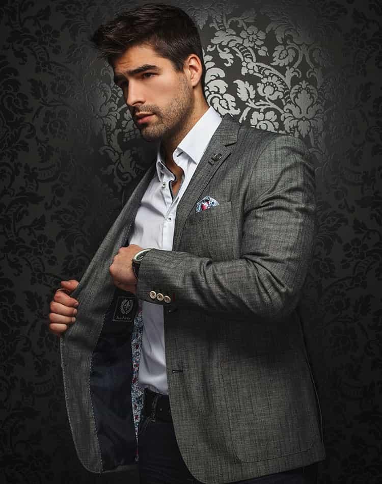 Luxury Sport Jacket Trendy Black Blazer Men Fashion Coats Au