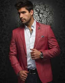 Shop Men: Men's Luxury Red Sport Coat