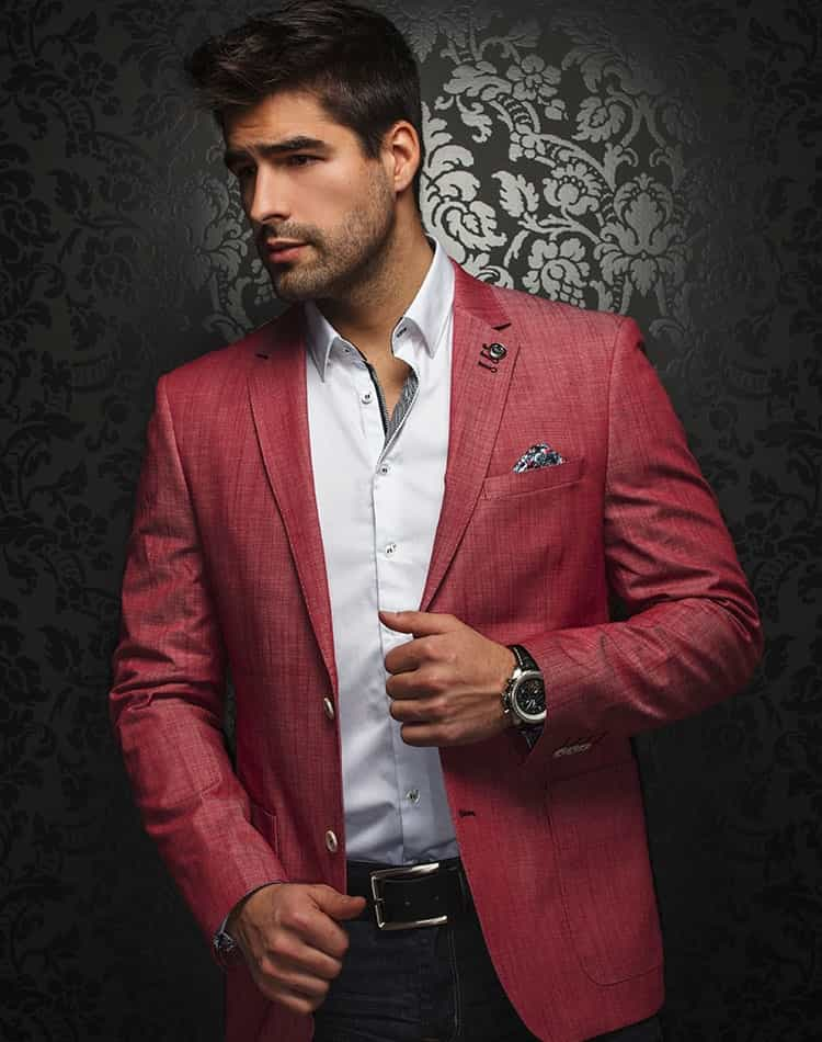 Luxury Sport Jacket: Trendy Red Blazer | Men Fashion Coats | Au ...