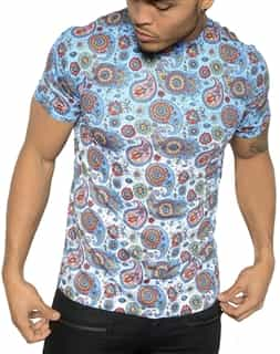 Luxury T-Shirt: Next level Couture Luxury Paisley Blue T- Shirt