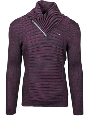 Wine red Men's knit sweater
