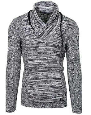 Steel Grey Men's Fashion Knit Sweater