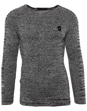 Cloud Black Men's European Sweater