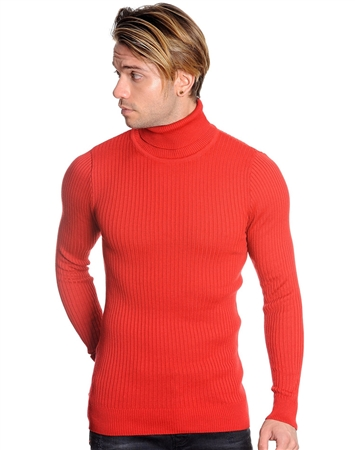 Luxury Fashion Turtleneck Sweater - Red
