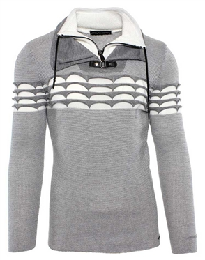 Luxury Grey and White Sweater