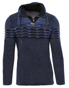 Luxury Navy and Blue Sweater