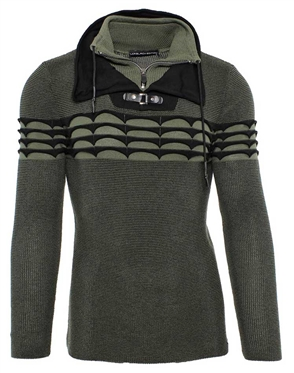 Luxury Olive and Black Sweater
