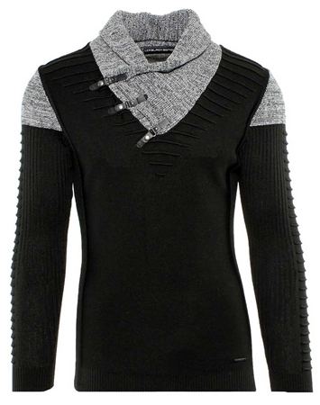 Fashionable Black and Grey Sweater