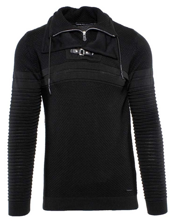 Designer Black Knit Shirt