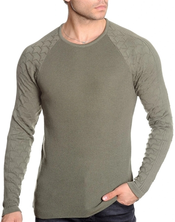 European Fashion Lightweight Knitwear Sweater - Olive