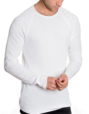 European Fashion Lightweight Knitwear Sweater - White