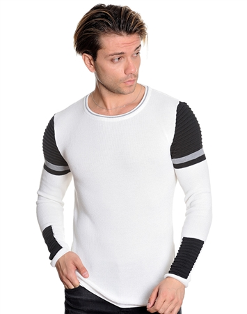 Modern White Light Sweater