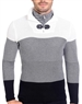 European Fashion Lightweight Knitwear Sweater - Black White