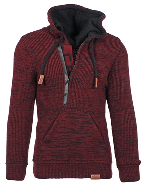 Heathered Burgundy European Fashion Sweater