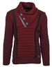 Designer European Sweater In Burgundy