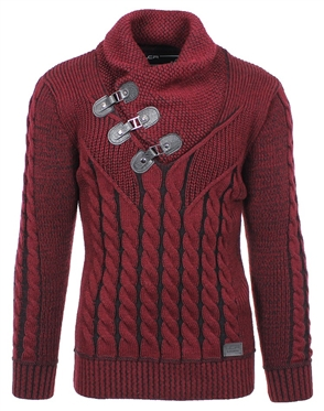 Burgundy and Black Fashion Fit Sweater